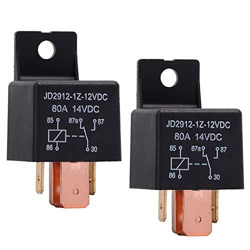 Ehdis [2 Stück 5-Pin JD2912-1Z-12VDC 80A 14VDC SPDT-LKW-Boot Van Fahrzeug Auto Relais 12V-Schalter