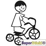 SUPERSTICKI Adhesivo para coche de triciclo, aprox. 15 cm, tuning deportivo