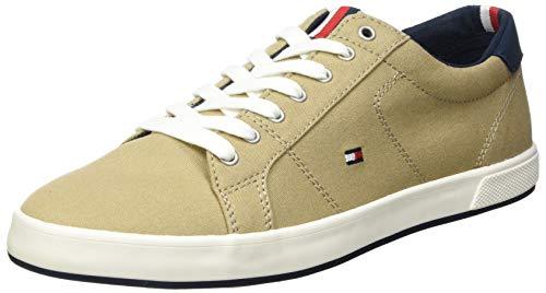 Tommy Hilfiger Long Lace Sneaker, Zapatillas ICONICAS LARGAS Hombre, marrón Claro, 43