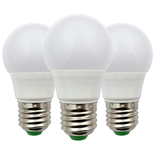 Bombilla LED E27 12V CA/CC 3W (A50 30W Halógenas), Bajo Voltaje Edison en Bombillas Blanco Cálido para Iluminación Rejilla Solar, RV Barco, Iluminación Interior, Paquete de 3 unidades