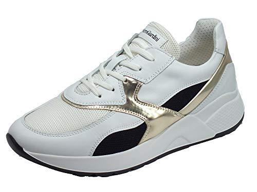 sneakers donna primavera 2020 Nero Giardini Sneakers Donna Pelle Bianco 40
