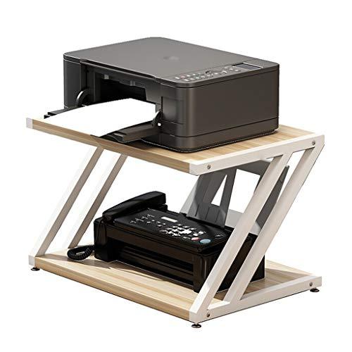 Printe Cart Machine Stand Impresora multifunción de sobremesa Soportes de almacenamiento en rack Organizador de escritorio for la impresora copiadora de microonda plantas en maceta, 2-Tier Soporte de