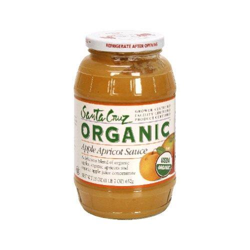 Santa Cruz Organic Apple Apricot Sauce, 23 Ounce (Pack of 12)