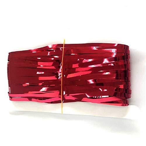 meixiang 3M Regenbogen Hintergrundfolie, Foto Hintergrund Farbe Folie Vorhänge, Geburtstag Party Dekoration 3m*1m / Rot
