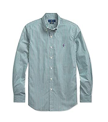 Polo Ralph Lauren Mens Stretch Cotton Long Sleeve Plaid Poplin Shirt