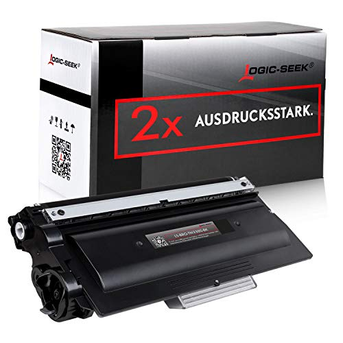 Logic-Seek 2 Toner kompatibel für Brother HL5450DN HL5450DNT HL-5440D DCP8250DN MFC8510DN 8950DWT - TN-3380 - Schwarz je 8000 Seiten