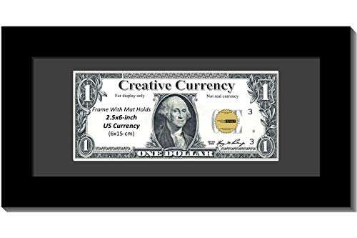 Creative Picture Frames [$4x9bk-b Black First Dollar Frame with Black Matting, Easel Stand and Wall Hanger Included
