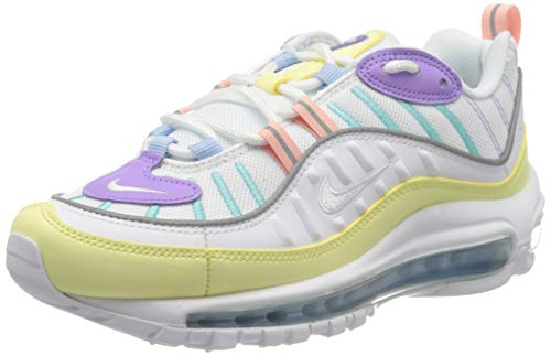Nike W Air MAX 98, Zapatillas de Running Mujer, Verde (Luminous Green/White/Atomic Violet/Bleached Coral/Psychic Blue/Lt Aqua 300), 44 EU
