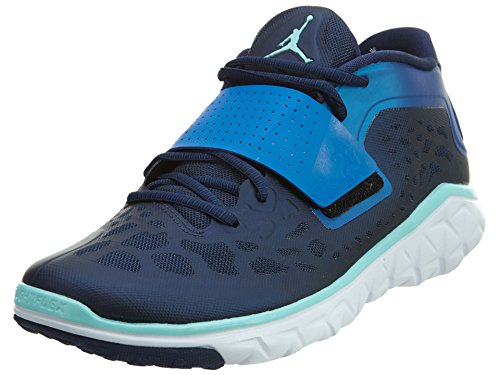 Nike Herren Jordan Flight Flex Trainer 2 Hallenschuhe, blau/weiß (Midnight Navy/Copa-soar-White), 42.5 EU