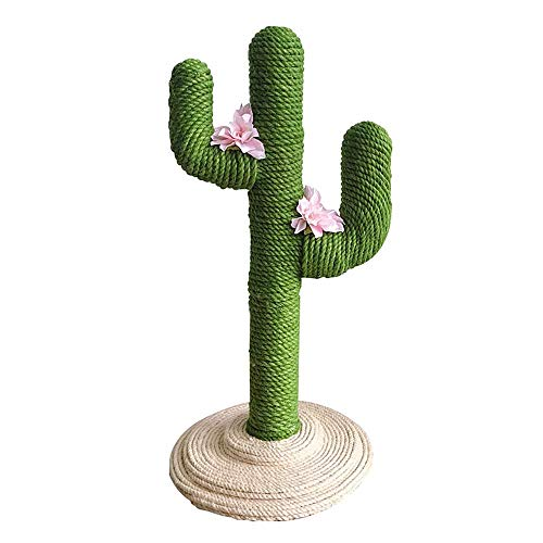 TOPKITCH Cactus Cat Tree Climbing Frame(Handmade) 31.5' - Jumping, Scratch and Educational Cat Toy