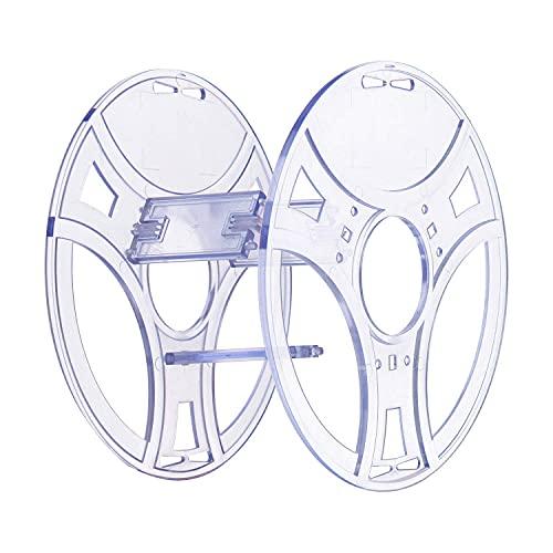eSUN eSpool, 2 Stück abnehmbare und wiederverwendbare leere Spule für 3D-Spulenlose Filamente, transparentes PC-Material, 200 x 65 mm, kompatibel mit den meisten 0,5 kg und 1 kg 3D-Drucker-Refilament