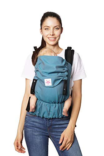 Baby Babytrage: KOKADI/® TaiTai Just Stone Baby Baby   3-30kg ✓ Neugeborene /& Kleinkinder ✓ Ergonomisch ✓ Steg verstellbar ✓ Bio-Baumwolle ✓ ab Geburt ✓ GRATIS Beutel /… 3,5-15kg