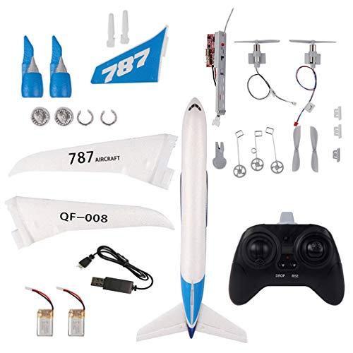 QF008-Boeing 787 2.4GHz 3CH EPP RC Avião de asa fixa e escala RTF Aeromodelismo Baterias brancas 2