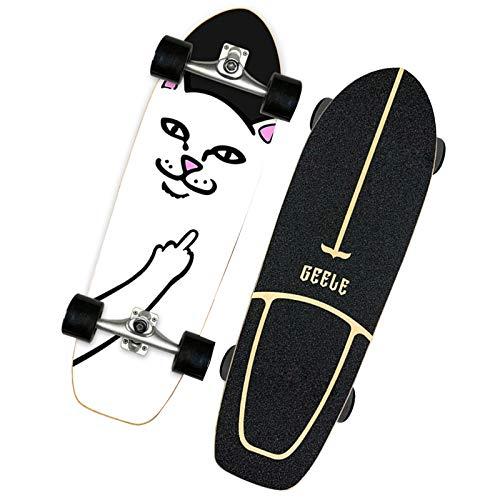 VOMI Penny Board, Professionals - Patineta portátil para adultos de 81 cm para niños, patrón de color con rueda de moda, para adolescentes, principiantes, niñas, niños, regalos para niños