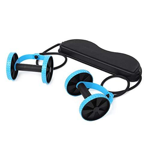 XPOXx Bauch-Übung Rad Ab Roller Bauchtrainer Elastizität Fitness-Rad-Training Home Gym Arm Hüfte Beine Exerciser Fitnessgeräte Körper Roller (Color : Black)