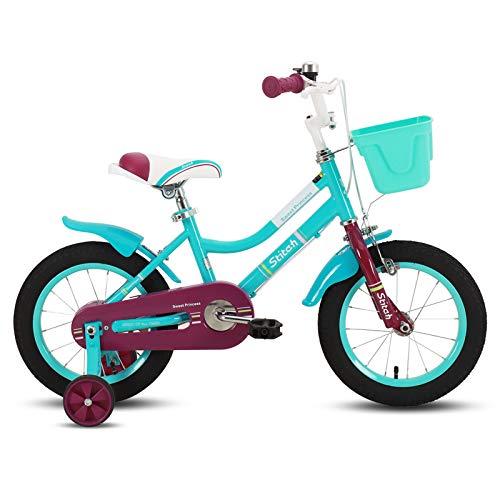 STITCH Bicicleta infantil de 40,6 cm para niñas y niños de 3...