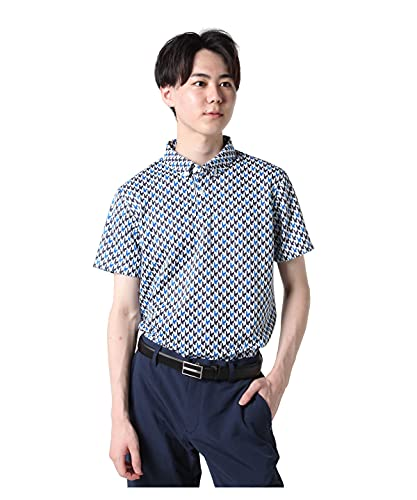 [タイトリスト]ゴルフウェア ポロシャツ 半袖 メンズ ジオメトリックプリント半袖ポロ TWMC2100 BL M