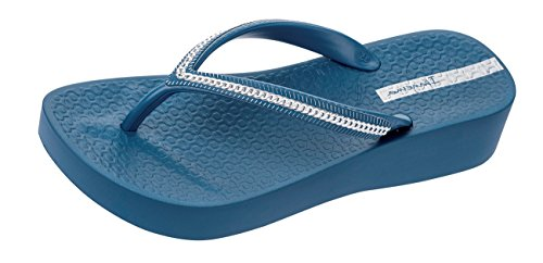 Ipanema Mesh Wedge Frauen Flip-Flops/Sandalen-Blue-40
