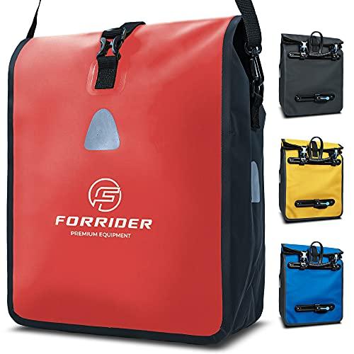Forrider Fahrradtasche für Gepäckträger Wasserdicht Reflektierend I 22L Gepäckträgertasche | Sattel Tasche fürs Fahrrad zum Einkaufen, Touren