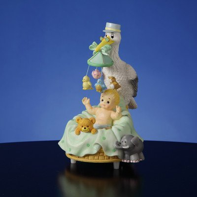 Stork with Baby Figurine by The San Francisco Music Box Company