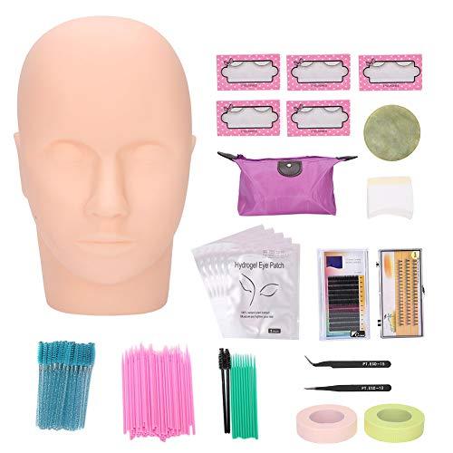 Kit de pratique d'extension de faux cils de maquillage, ensemble d'outils de formation de greffe de cils de maquillage professionnel avec sac portable, outil de greffe de cils pour les professionnels