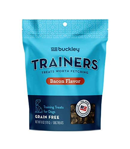 Buckley Trainers All-Natural Grain-Free Dog Training Treats, Bacon, 6 oz (Packaging May Vary)