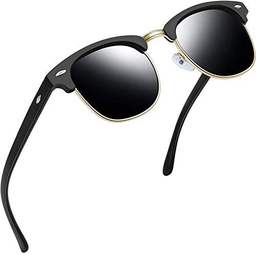 Joopin Vintage Polarisiert Sonnenbrille Herren Halbrahmen - Groß Sonnenbrille Damen Retro UV400 Polarisierende