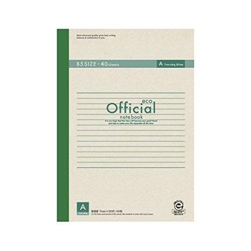 (業務用セット) アピカ オフィシャルノート 無線綴じノート A罫(7mm) エコタイプ 6A4FE 1冊入 【×10セット】 ds-1528528