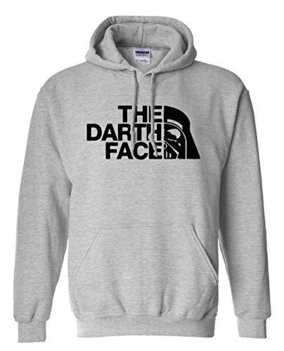 XUANTSHIRT The Darth Face Suéter de Hip Hop con Estampado de Letras Otoño e Invierno Sudadera con...