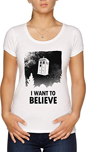 I Want To Believe Camiseta Mujer Blanco