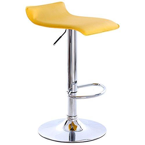 Chaises de bar européennes, fauteuils de devant, chaises de bar, tabouret de bar, chaises de barre d'ascenseur, haut tabouret (Couleur : Le jaune)