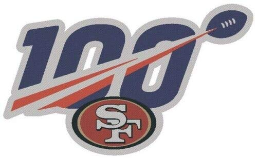 Football 49ERS Patch NFL 100TH Anniversary Patch 2019-2020 Season Neckline Patch