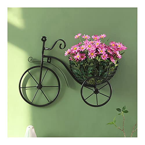 Décoration murale à suspendre en fer forgé, panier de fleurs pour vélo, support mural de style rétro classique à suspendre, décoration murale pour la maison ou le bureau. Fleurs non incluses