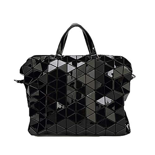 Taschen Handtaschen Frauen Luminous Geometric Plaid Messenger Bag Casual Tote Umhängetasche Damen Handtaschen Black