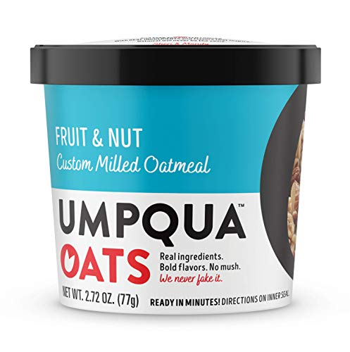 Umpqua Oats All Natural Oatmeal Cups, Fruit & Nut, 2.73 ounce, 12 Count (PACKAGING MAY VARY)