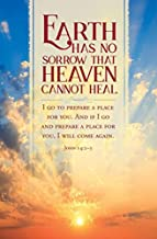 Warner Press Bulletin-Earth Has No Sorrow That Heaven Cannot Heal (John 14:2-3 KJV) (Pack of 100)