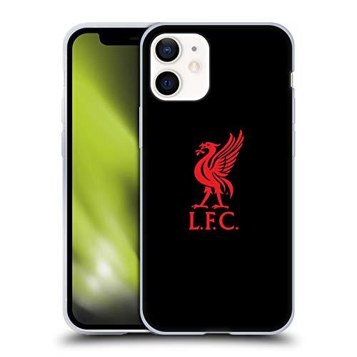 Offizielle Liverpool Football Club Logo Rot Und Schwarz Liver Bird Soft Gel Handyhülle Hülle Huelle kompatibel mit Apple iPhone 12 Mini