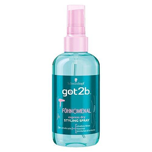 Schwarzkopf got2b Phenomenal Express Dry Styling Spray 200 ml / 6.8 fl oz by Got2b
