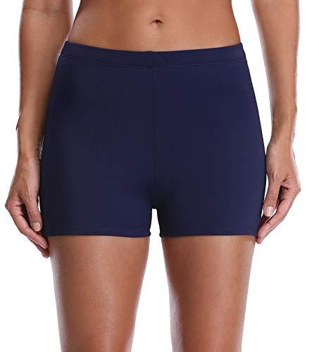 Anwell Damen Übergröße Badeanzug Schwimmen Bikini Wäsche Schlüpfer Strandkleidung Marine 42 (Herstellergrosse 16)