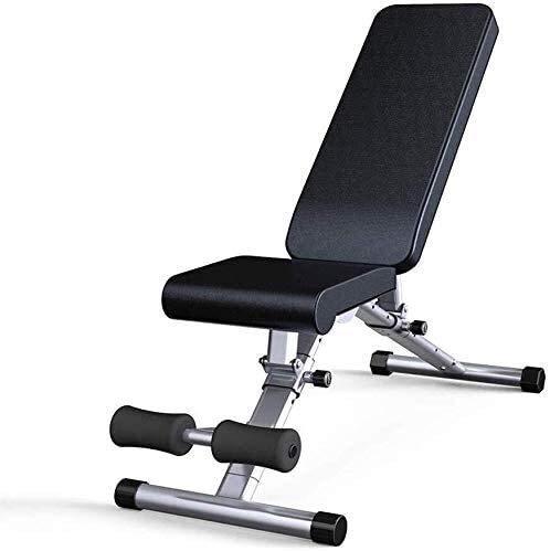 Banco de pesas ajustable con mancuernas para fitness y tabla, multifunción, banco para pájaros pequeño y equipo de fitness