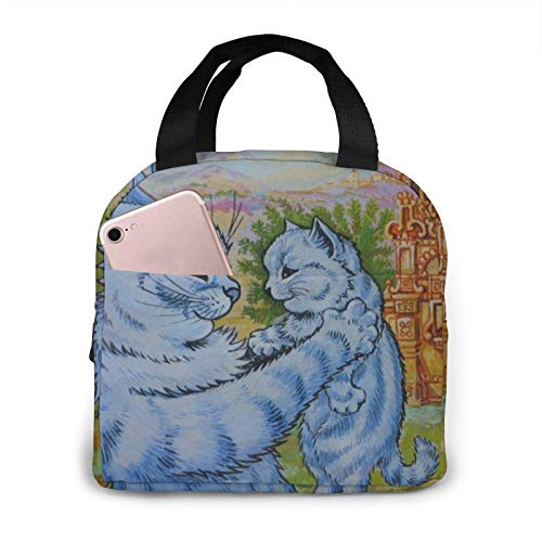 ZHTT Best Cat Mom Ever Mother's Day Portable Insulated Cooler Lunch Bag,Reusable Waterproof Leakproof Tote Bag,for College Work Picnic Camping Box Organizer