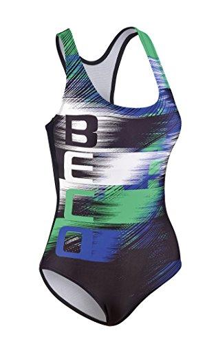 Beco Beermann Damen Schwimmanzug Aqua Badeanzug, grün/Schwarz, 40
