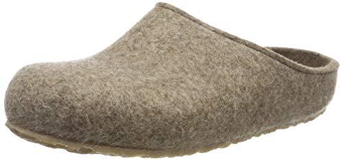 HAFLINGER Unisex-Erwachsene Grizzly Michl Pantoffeln, Beige (Torf 550), 41 EU