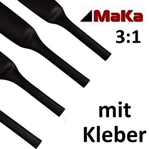1 Meter Schrumpfschlauch 3:1 mit Kleber schwarz UL-Zulassung verschiedene Größen Ø 3,2 bis 38,1 mm (Ø 25,4 mm)