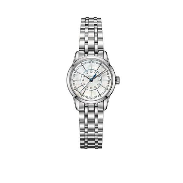 Hamilton Reloj Analogico para Mujer de Cuarzo con Correa en Acero Inoxidable