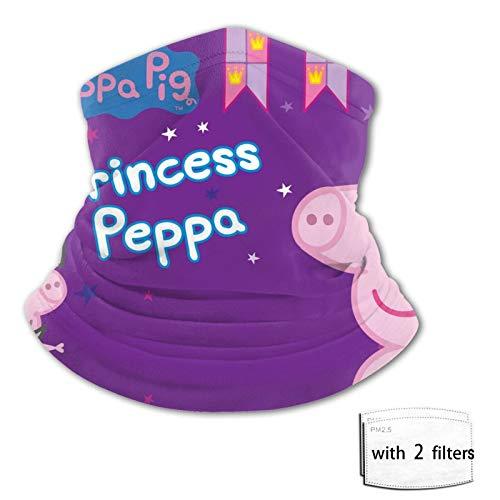 Pep-Pa P-Ig Gesichtsschutzma-sken Diadema con filtro de tubo, bufanda reutilizable, lavable, desechable, solo proteccin contra el polvo para adolescentes, nios, nias corriendo
