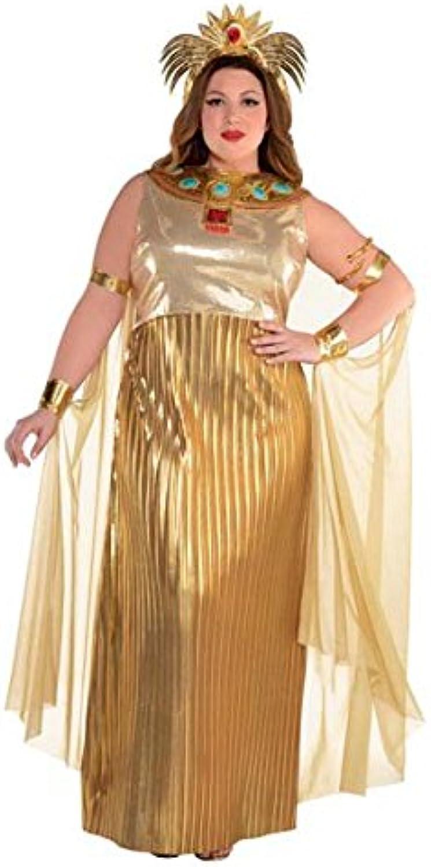 Amscan Women's golden Cleopatra Costume, Size  Plus XXL (1820)