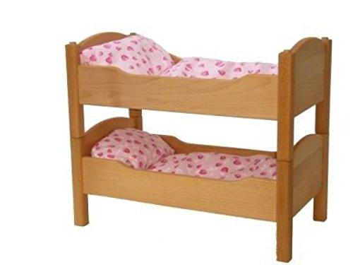 Puppenetagenbett 5012 für Babypuppe - handgefertigt - Massivholz-Puppenmöbel