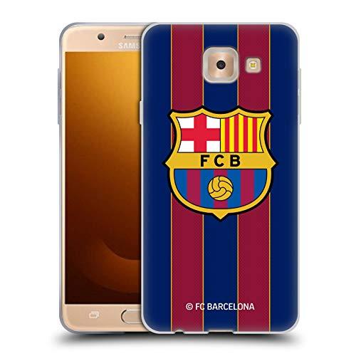 Head Case Designs Oficial FC Barcelona Casa 2020/21 Kit de Cresta Carcasa de Gel de Silicona Compatible con Samsung Galaxy J7 MAX