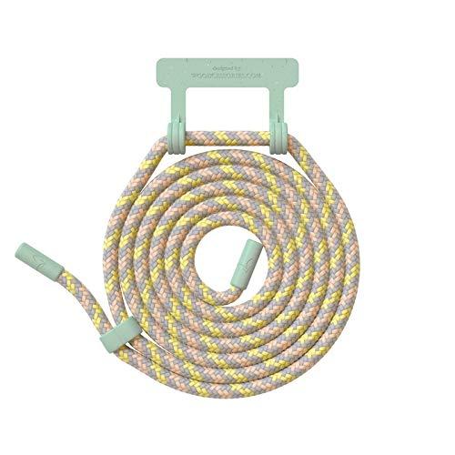Woodcessories - Wechsel Kordel aus Oeko-TEX Baumwolle kompatibel Change Hülles - Nachhaltige Ersatz Handykette (Pastell/Fassung Mint Grün)